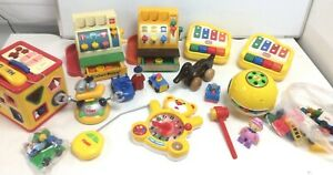 Large Mixed Job Lot Bundle Of Vintage Childrens Toys Tomy Fisher Price