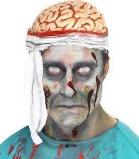 Halloween Fancy Dress Latex Bandaged Brain Headpiece Size Small by Smiffys New