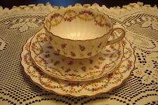 Royal Worcester 3 pieces set, cup, saucer and cake plate, small flowers [*14]
