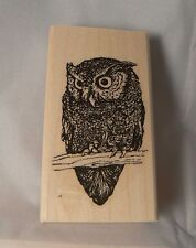 P39 Owl rubber stamp WM