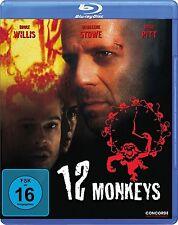 12 MONKEYS (Bruce Willis, Brad Pitt) Blu-ray Disc NEU+OVP