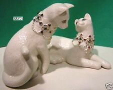 Lenox Made For Each Other 2 piece Cat sculpture set New in Box with Coa