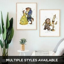 Beauty and the Beast Cogsworth Lumiere Potts - Premium Prints - A2 A3 A4 - BEA