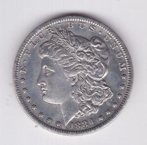 UNITED STATES AMERICA 1884 MORGAN SILVER DOLLAR $1 GOOD CONDITION EXAMPLE 2