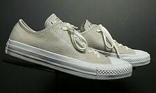 Women's Converse All Star White Mottled Silver Leather Sneakers Sz 36.5/6 NWOB