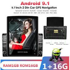 Android 9.1 cuatro núcleos 9.7In Vertical De Pantalla Coche Estéreo Radio BT GPS WIFI OBD DAB