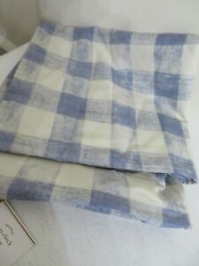 POTTERY BARN RHETTA BLUE CHECK PILLOW COVER NEW 24 X 24 INCH