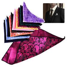 10pcs Men Handkerchief Silk Pocket Square Paisley Polka Hanky Wedding