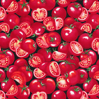 NEW Fabri-Quilt Farmer John's Garden Party Tomato 100% cotton Fabric by the yard