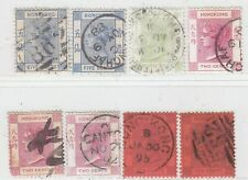 HONG KONG 1880 - 1895  ISSUE USED STAMPS SHOWING NICE POSTMARKS 8