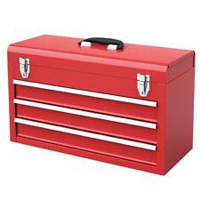 Portable Tool Chest Box Storage Cabinet Garage Mechanic Organizer 3 Drawers New