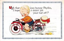 POSTCARD  CHILDREN  MOTOR  BIKE  Related   BAMFORTH   Phyllis   D  TEMPEST