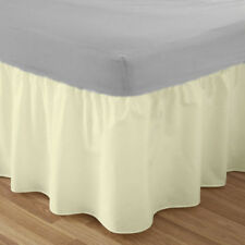 Platform Base Valance Sheet Double Bed Single Super King Size Frilled Pillowcase