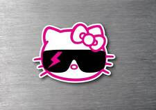 Hello Kitty cool sunglasses sticker 7 year water & fade proof vinyl laptop ipad