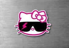Hello Kitty cool sunglasses sticker 7 year water & fade proof vinyl laptop ipad