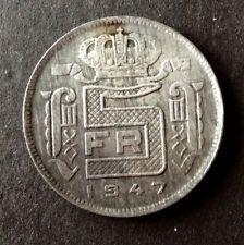 Belgique - Très Jolie et Rare monnaie de 5  Francs 1947 FR
