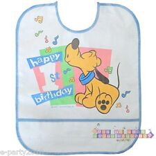 DISNEY BABIES 1st Birthday Tunes PLUTO PLASTIC BIB ~ First Party Supplies Favors