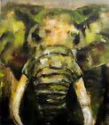 Elephant painting, Abstract portrait of Elephant animal