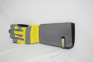 Jardineer Rose Gloves THORNPROOF Gardening Gloves Adjustable YELLOW AND GRAY