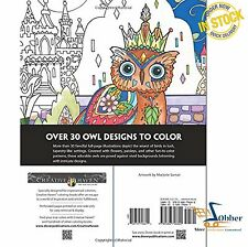 Adult Coloring Books Creative Haven Animals Decorative Art Designs Owls Patterns