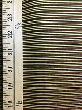 GOLD RED BLACK STRIPED UPHOLSTERY BROCADE FABRIC (60 in.) Sold By The Yard