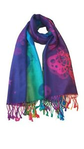 Ladies Bright Multi-Colours Butterfly Print Scarf Showl Pashmina