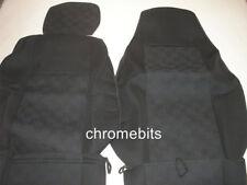 2 / Paire Premium Noir Tissu Housses de siège auto sur mesure pour SCANIA G P