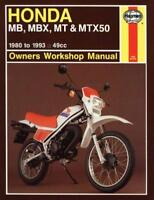 Honda MB, MBX, MT and MTX50 Owner's Workshop Manual (Motorcycle Manuals) by Jere