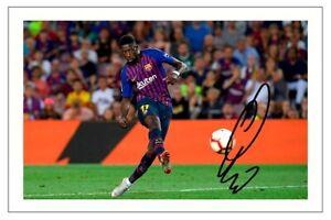 OUSMANE DEMBELE Signed Autograph PHOTO Fan Gift Signature Print BARCELONA Soccer