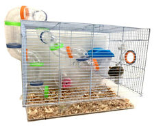 New listing 2-Levels Hamster Habitat Rodent Gerbils Mouse Mice Rats Animal Clear Cage