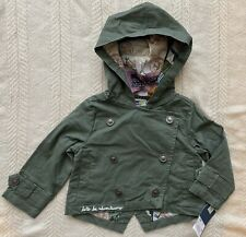 Genuine Kids From Oshkosh Baby Toddler Girls Jacket 12M Olive Green Hooded