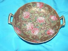 Antique Vintage Royal Hinode Nippon Porcelain Bowl Handle Handpainted Gold Guilt