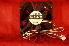Fan  SanCooler 80 P/N 9A0812S412, 3 wire, 12vdc at 0.18A  Sanyodenki 80 X 25 MM