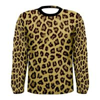 New leopard skin pattern Sublimated Men's Long Sleeve T-shirt S M L XL 2XL 3xl