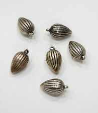 Beads Etched Silver Teardrop Beads 30mm