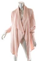 Soft Surroundings Dusty Rose Cotton Blend Cardigan Sweater w Ribbed Trim  Sz XL