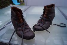PAUL GREEN Damen Stiefel Stiefeletten Boots Absatz Gr.7 / 40,5 Leder braun #2k