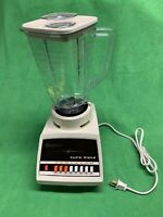 Vintage Osterizer Blender Cycle Blend 8 Speed Model 867-14F Yellow Retro Tested