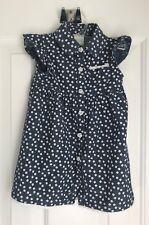 Healthtex Baby Button-Down Blue Print Chambray Dress Sz 12M