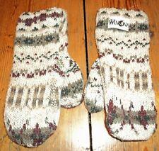 Winona Minnesota womens size Medium M wool cotton blend knit Mittens Made in USA