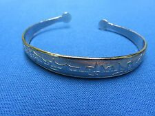 From National Museum Of Mongolia D Asian Ethnic Jewelry Silver Plate Bracelet