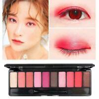 10 Farben Candy Korean Women Matte Glitter Lidschatten-Palette Pinsel-Set m G8O6