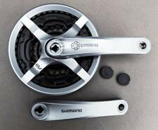 2018 Silver Shimano MTB Triple Chainset  24/34/42, 170mm alloy cranks FCTY501