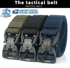 """1.5""""Tactical Belt Military Nylon Webbing Belt with Magnetic Quick-Release Buckle"""