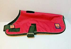 """Ginger Ted Greyhound/Whippet Fleece Coat 18"""" Excellent Condition red"""