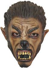 Wolf Mask Child Latex Werewolf Brown Halloween