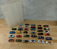 Vintage Hot Wheels and Matchbox Lot of 34 cars with case 1970'S / 80'S / 90's