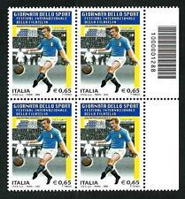 Italia Repubblica 2009 - Giornata dello Sport -  quartina con codice a barre