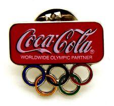 Pin Spilla Olimpiadi Torino 2006 - Coca-Cola Logo Con Anelli