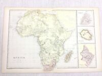 1888 Antique Map of Africa Natal Bourbon Reunion Old 19th Century Blackie & Son